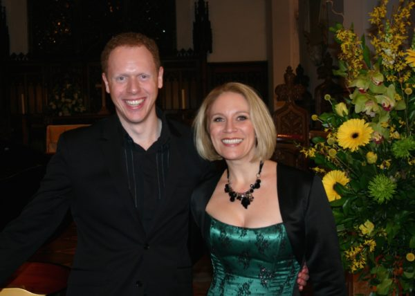 Carolyn Sampson Interview; pictured with Joseph Middleton at the Frant Music Festival